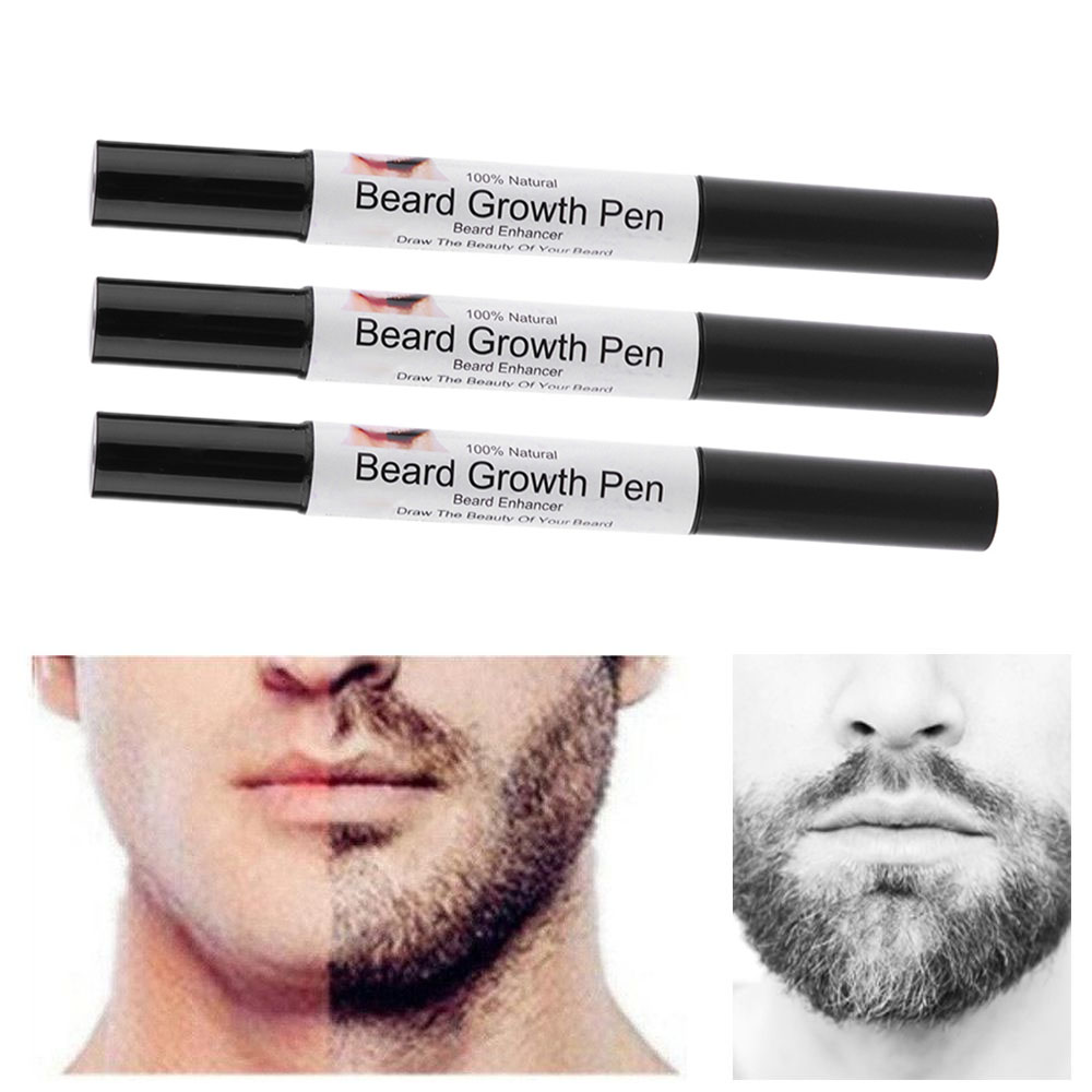 1 Pc Beard Fast Growth Enhance Moustache Enhancer Whiskers Style Styling Spray Shape Drawing Liquid Oil Pen Effective