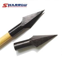 6 Pcs Black Vintage Arrowheads Polishing for 8mm Arrow Shaft Accessory Hunting