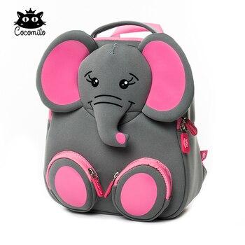 3D Happy Elephant Model School Big Waterproof Zoo Animals Design Mochila Infantil Fashion Anti Lost Gift for Toddler Kids Small - discount item  52% OFF School Bags