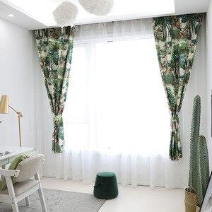 Image 4 - 유럽 스타일의 나무 녹색 식물 인쇄 침실 거실 부엌 홈 장식 창 치료 드레이프 블라인드