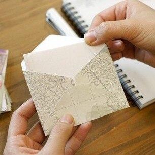 12 Pcs/lot Mini Cute Ancien Paper Envelope Retro Vintage European Style For Card Scrapbooking Gift Free Shipping