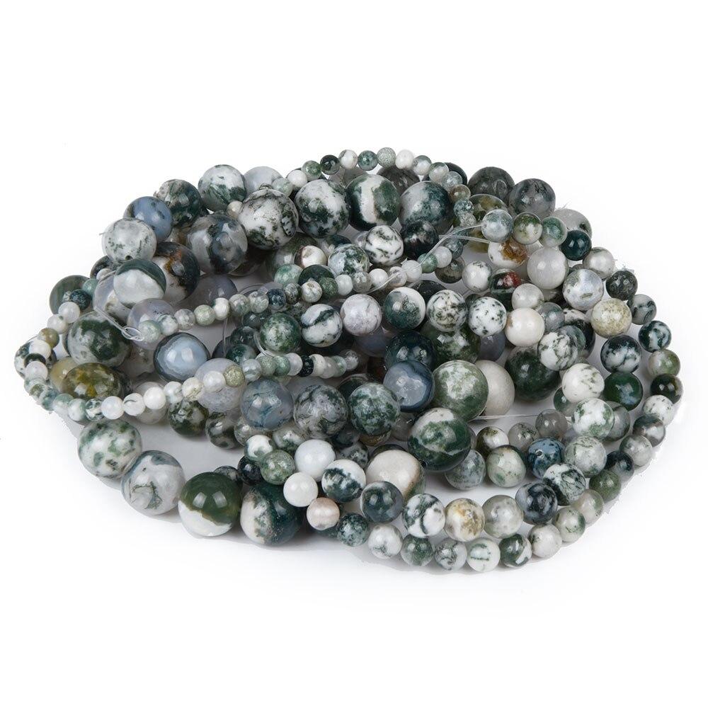 Tree stone Green Spot Beads Women Jewelry DIY Fashion Making Beads 4 6 8 10 12mm