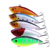 100PCS VIB Sinking Fishing Lures 7cm 10.5g Swimbait Hard Bait Fishing Wobblers Tackle