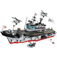 ENLIGHTEN Military War Red Snake Guard Boat Special Forces Figures Building Blocks Sets Bricks Kids Toys Compatible Legoings