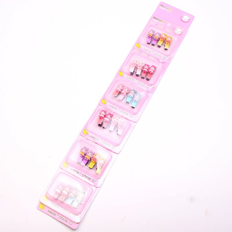 4PCS Lot Mini Fashion Hairpin Small kitty Rabbit Cartoon Girls Hair Clips High Quality Hairgrip Kids BB Clip Hair Accessories in Hair Accessories from Mother Kids
