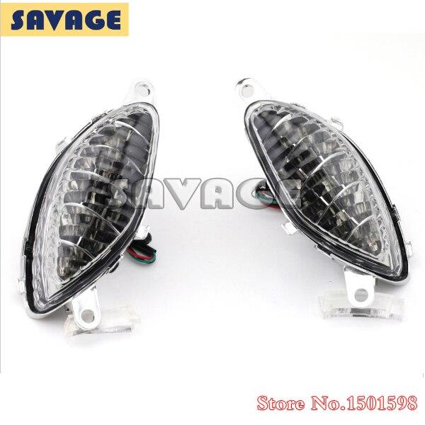 Para Suzuki Hayabusa 1999-2007 Claras Accesorios LED Frontal de Señal de Vuelta