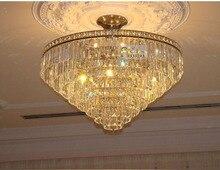 Современный хром кристалл потолок лёгкие светильник гостиная кристалл потолок лёгкие гарантировано 100%