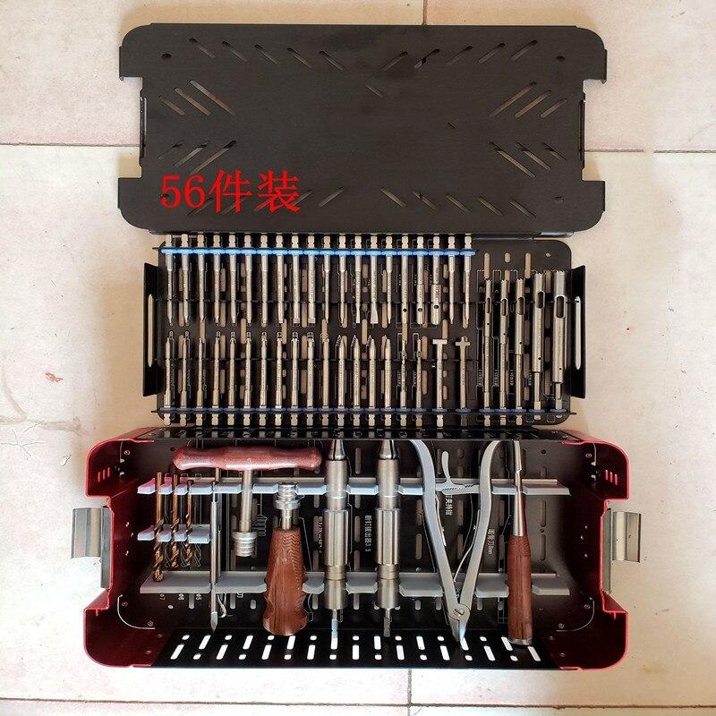 Ensemble d'extracteur de vis cassé Instruments orthopédiques extracteur de vis cassé tournevis orthopédique