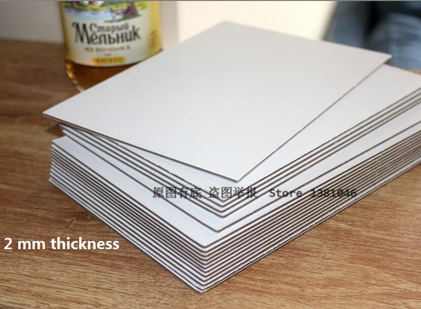 1/3/5/10 Chipboard Sheet 2mm 2000mic Thick Card White Board Cardboard For Paper Craft Backing Modelling Heavy 210*148mm
