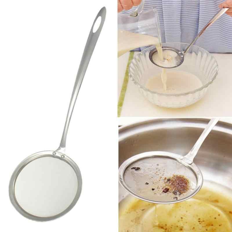 Yağ süzgeci paslanmaz çelik ince örgü tel yağ temizleyici süzgeç un kevgir elek elek mutfak pişirme aracı