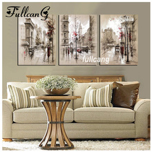 square drill diamond embroidery triptych european style home decoration whole mosaic needlework painting D486