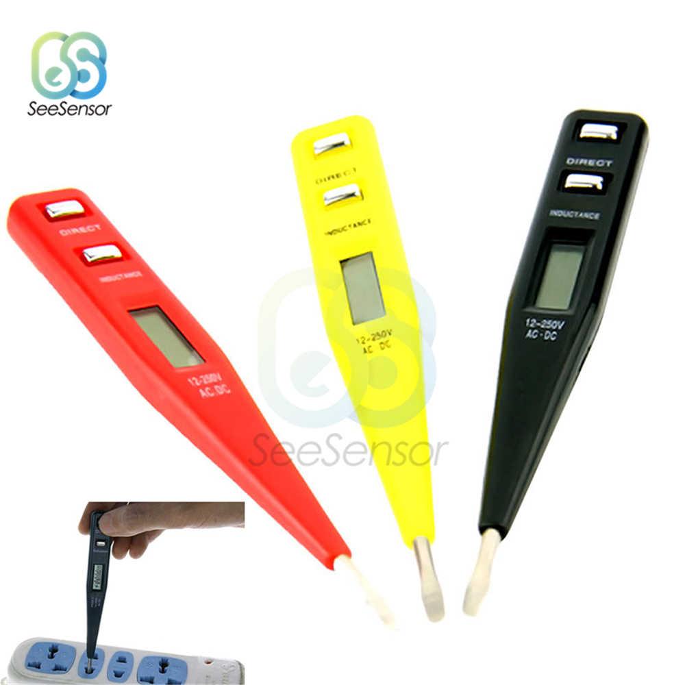 1PCS LCD Digital AC//DC Voltage Detector Continuity Tester Pen 12-240V YJCA