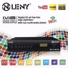 ONLENY DVB-S2 HD Médialejátszó Set top Box Digitális műholdas TV-vevőkészülék támogatás 3G Wifi EU csatlakozóval