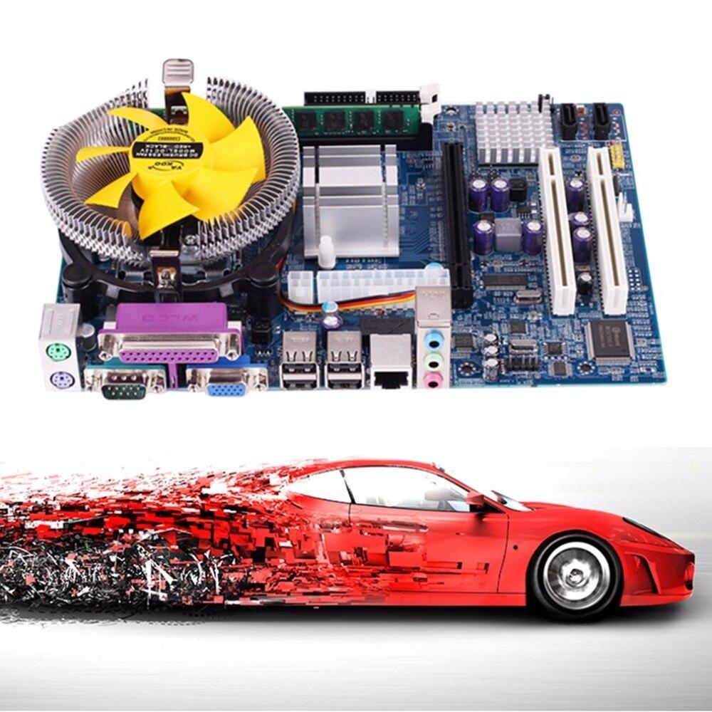 Motherboard CPU Conjunto com Quad Core 2.66G CPU Core i5 + 4G de Memória + Fã Computador Desktop ATX Mainboard Montar Set Gota grátis