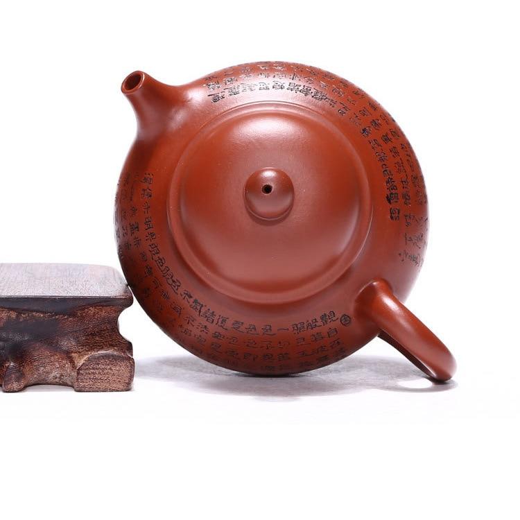 Venta al por mayor yixing recomendado puro manual desvestido mineral dhongpao corazón sutra día olla de kung fu Té juego de regalo
