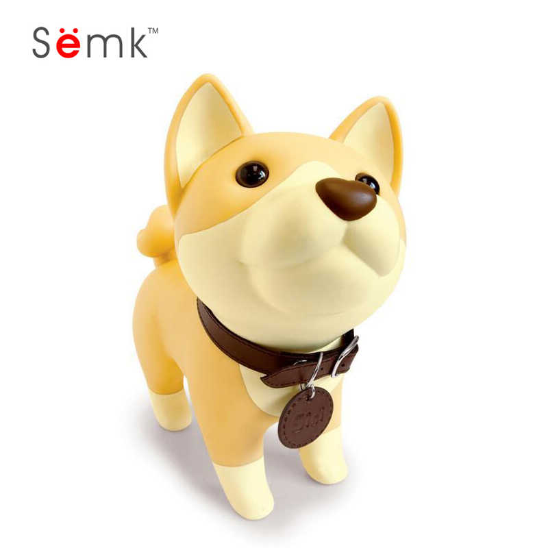SIBAOLU, caja de dinero delicada de PVC para perro abatible, regalo de cumpleaños, Husky, Husky, hucha, hucha, figuras de dibujos de perros, caja de monedas