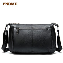 Fashionable female bag contracted large capacity recreational single shoulder litchi grain pure color inclined cross