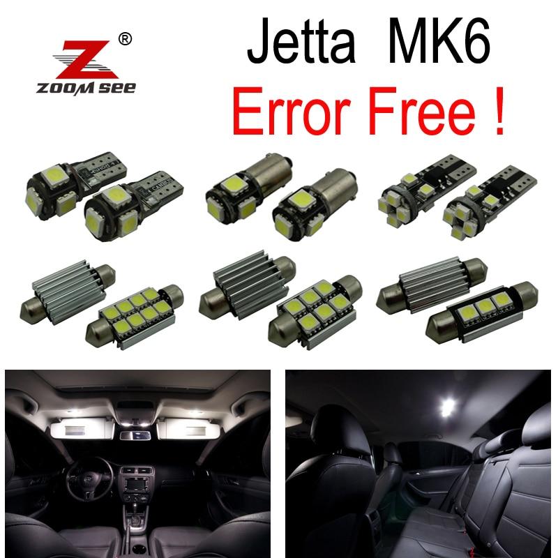 16pc x Error Free for VW Volkswagen Jetta 6 MK6 MKVI LED lamp interior map dome light + Parking city bulb kit (2011+) 16pc x 100