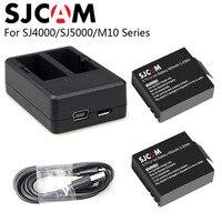 SJCAM SJ4000 Dual Charger 2Pcs Battery 900mAh 3 7V Li Ion Rechargable Battery For SJ Cam