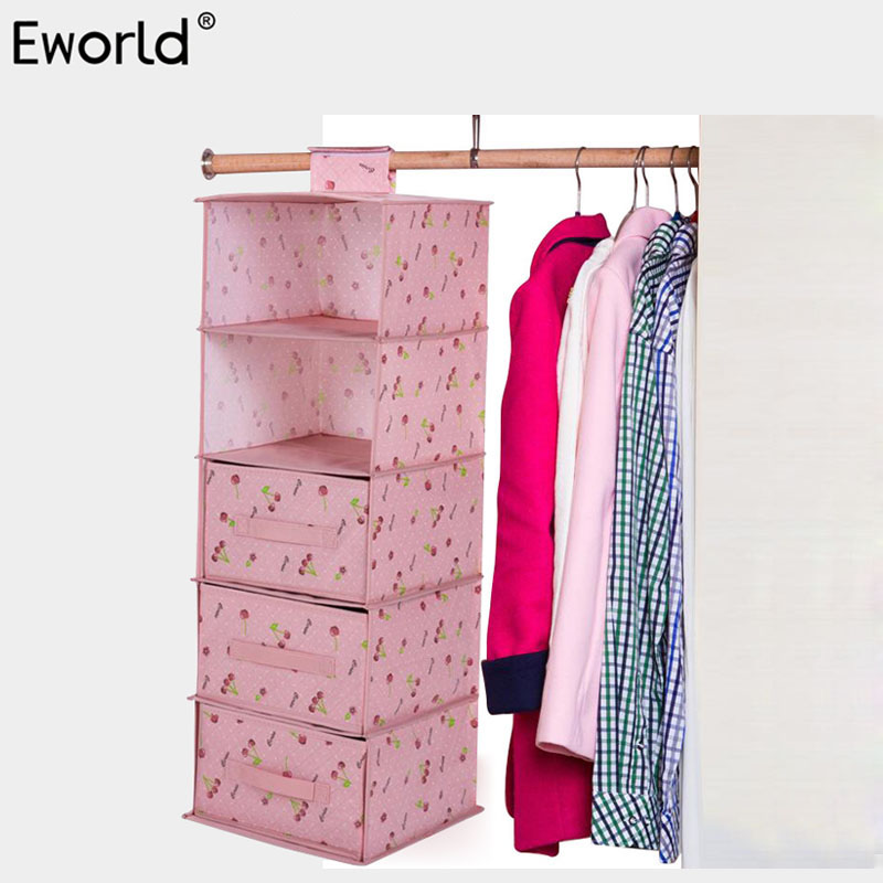 Eworld Multilayer Garderobe Opknoping Organizer Vochtwerende Kleding - Home opslag en organisatie