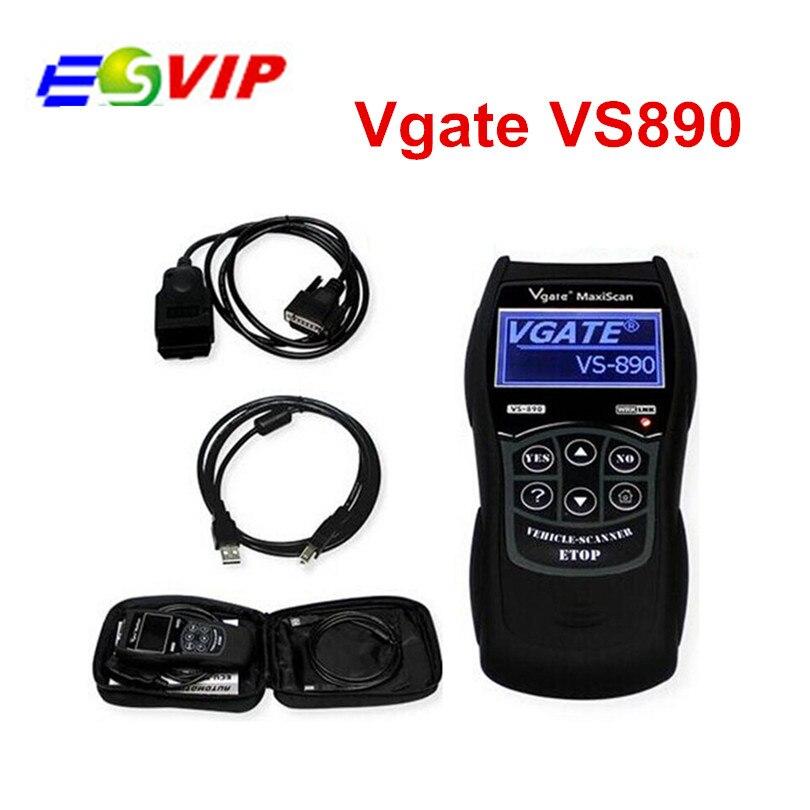 Цена за VGATE VS890 OBD2 Code Reader Универсальный OBD2 Сканер многоязычная и Автомобиля Диагностический Инструмент Vgate MaxiScan VS890 Бесплатная Доставка