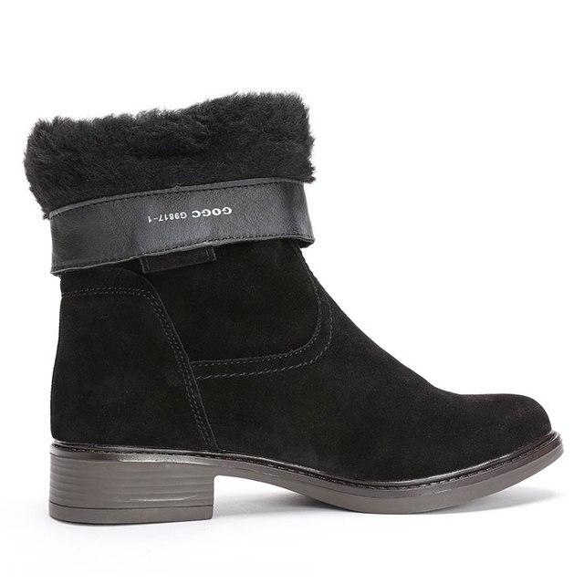 US $21.94  Moda kobiety motocykl trzewiki martin buty damskie buty na płaskim obcasie ze skóry pu zimowe mieszkania ciepłe buty na śnieg kobieta botki