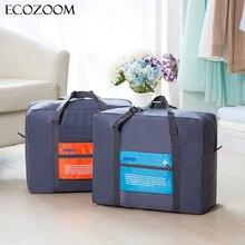 Fashion Nylon Travel Trolley Bag Pouch WaterProof Unisex Handbags Women Luggage Travel Folding Bags Foldable Duffle Bag Carry-on