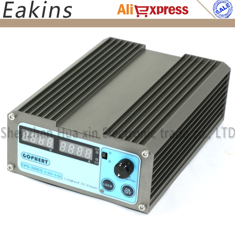 Free shipping CPS-3205II 160W (110V- 220V) 0-32V/0-5A,Compact Digital Adjustable DC Power Supply CPS3205 + EU plug cps 3220 high power digital dc power supply 32v 20a mini adjustable compact laboratory power supply eu au plug