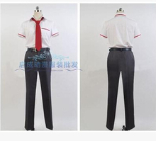 Glasslip Kakeru Okikura School Uniform Outfit Cosplay Costume shirt pant belt tie set