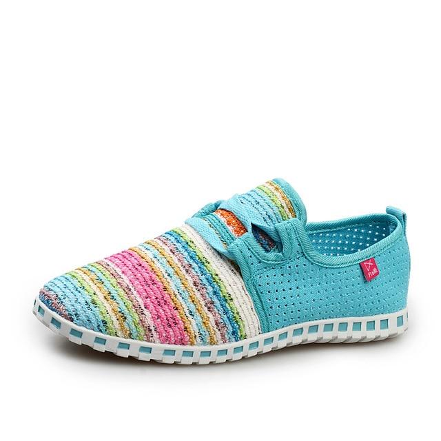 2017 Hot sale Summer Flat Shoes women Comortable Casual Lace-Up Flats Breathable Outdoor women Shoes  Mesh Zapatillas Shoes