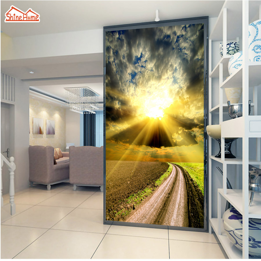 ShineHome-Cloudy Wheat Fields Sunset Nature 3d Room Wallpaper Rolls for Walls 3 d Living Room Wallpapers Mural Roll Wall Paper wheat breeding for rust resistance