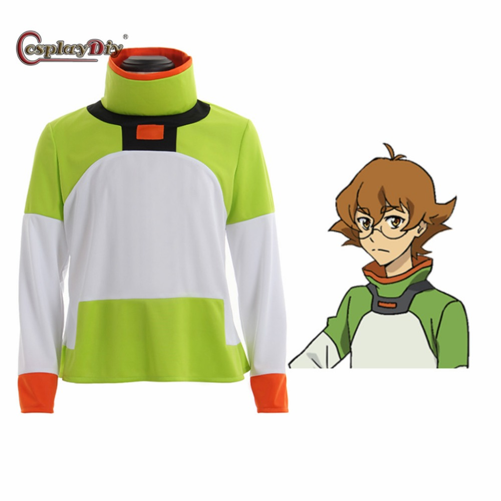 Cosplaydiy Anime Voltron: Legendary Defender Pidge Cosplay T Shirt Costume Top Long Sleeve Jacket For Halloween Custom Made J10