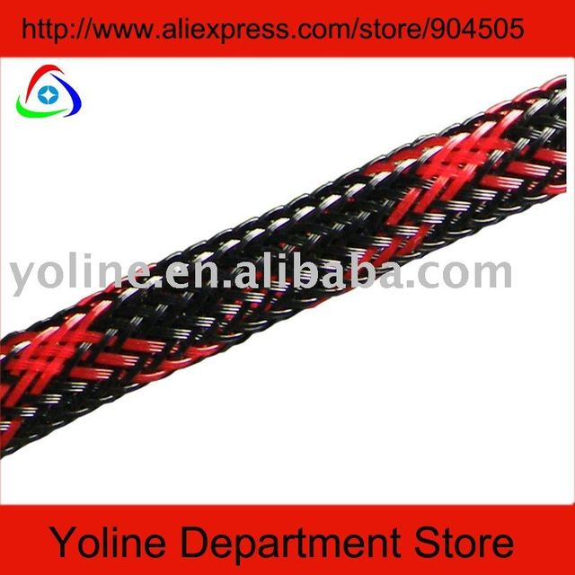 braided sleeving+free shipping+shipping by UPS,arrived with 3~5 days.Fire retardant meterial