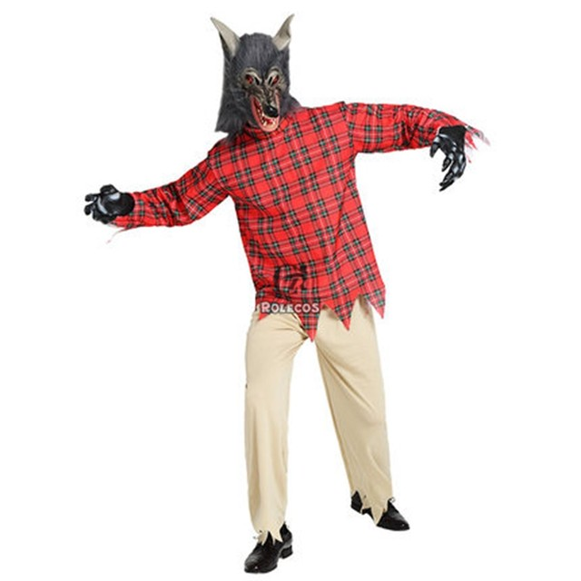 rolecos brand new adult women and men halloween cosplay costumes terror werewolf halloween party cosplay costumes full set