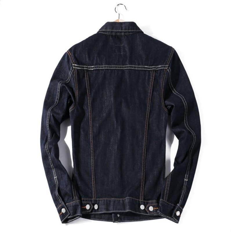 High Quality Fashion Designer Pockets Jeans Jackets Men Slim Denim ...