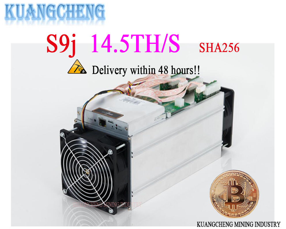 KUANGCHENG viejo AntMiner S9j 14,5 T con APW3 PSU Asic minero Bitcoin SHA-256 Btc BCH minero mejor que Antminer S9 s9i 13 t 14 t