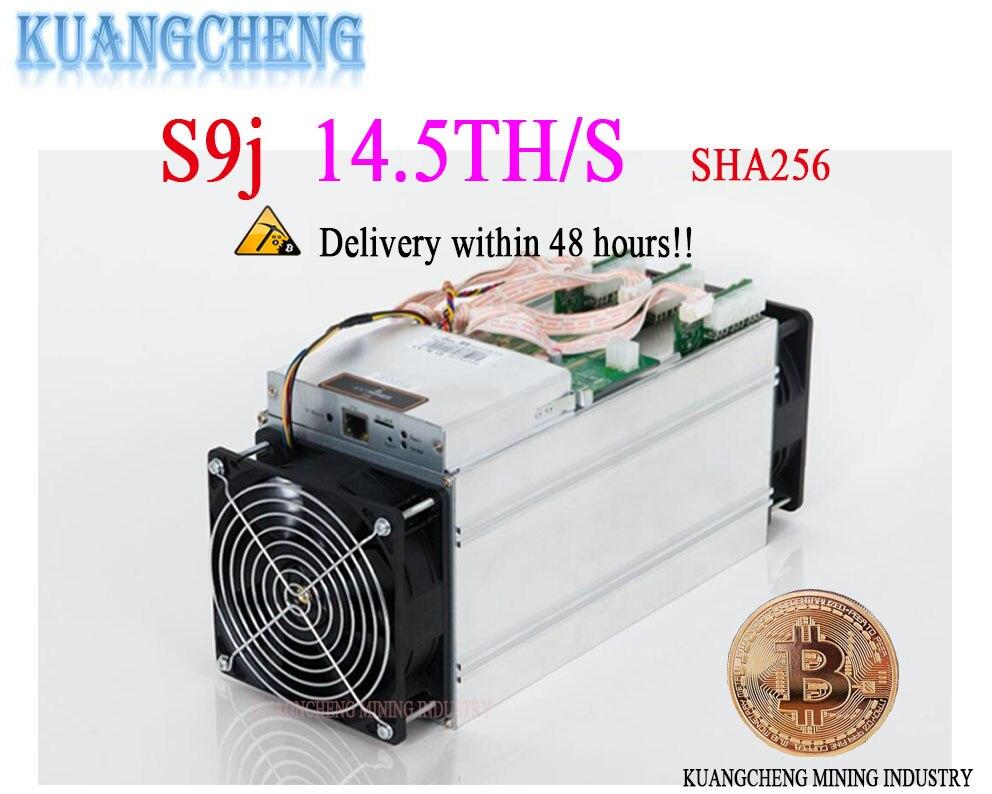 KUANGCHENG vieux AntMiner S9j 14.5 t Avec APW3 PSU Asic Bitcoin Mineur SHA-256 Btc BCH Mineur Mieux Que Antminer S9 s9i 13 t 14 t