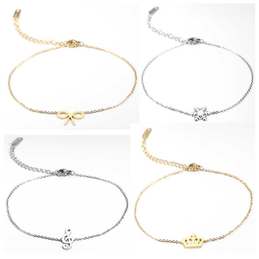 Dolar osobistego stylu kobiece obrączki ze stali nierdzewnej sandały stóp biżuteria obrączki na kostki kostki bransoletki dla kobiet łańcuszek na nogę