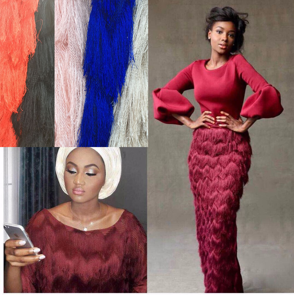 2019 Latest Nigerian Laces Fabrics High Quality African Laces Fabric For Wedding Dress French Tulle Lace
