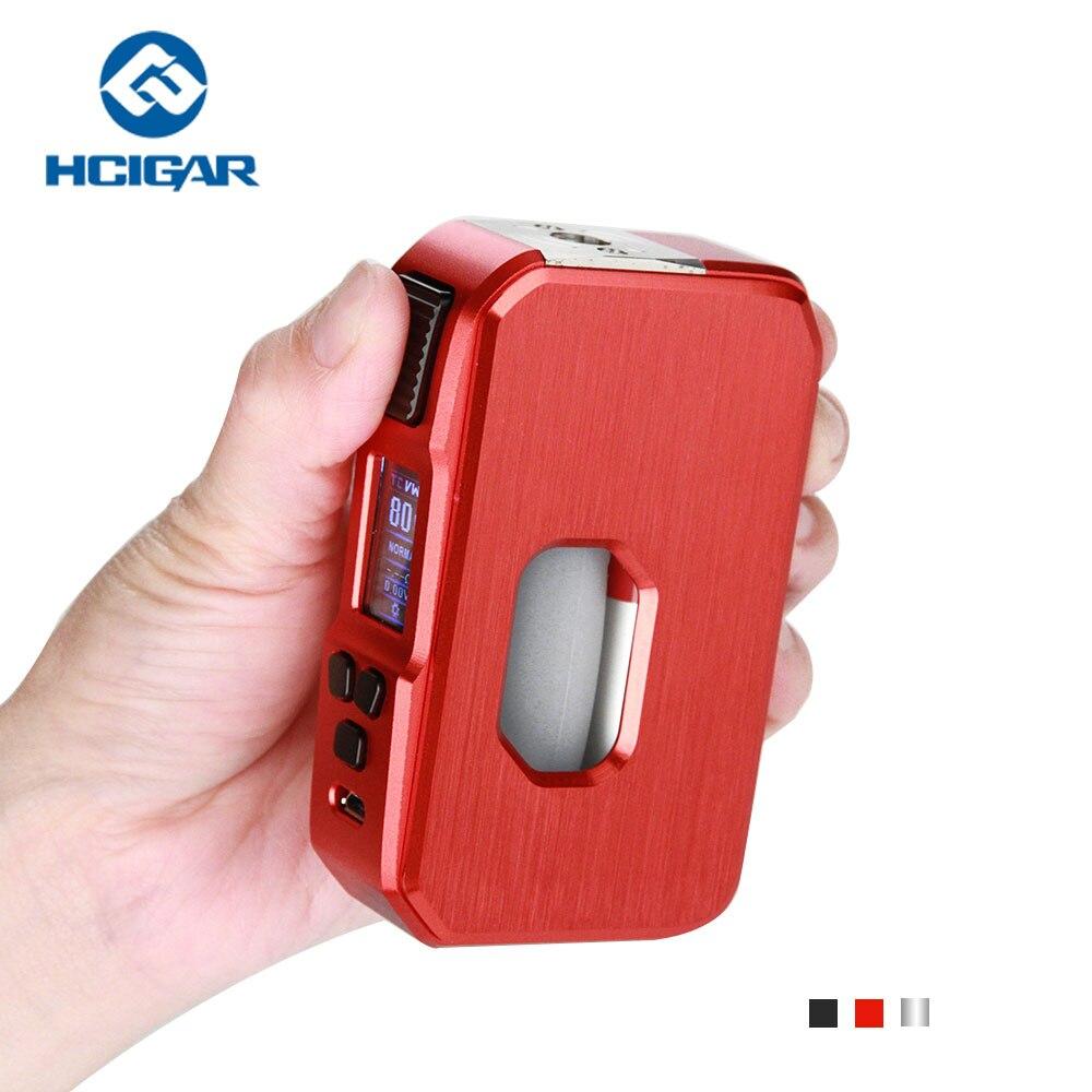 Nouveau Original hcigare AURORA Squonk Mod 80 W E boîte à cigarettes MOD Vape soutien VW/TC Mode compatible avec 18650 20700 21700 batterie