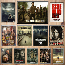 ФОТО Walking Dead  movie Coated paper poster Bar Cafe   Printing Drawing core Decorative Painting