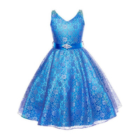 Teen Girls Tulle Bridesmaid Flower Girl Lace Wedding Dress Ball Gown BBirthday Evening Prom Cloth Party