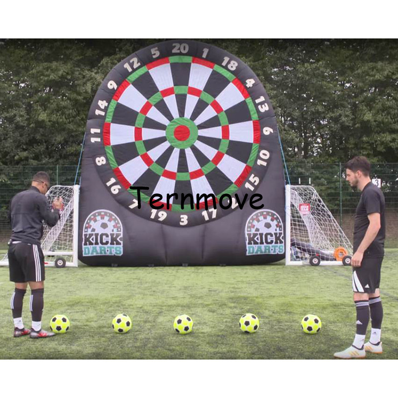 Inflatable Football Dart Board ,Inflatable Soccer Dart Game Foot Darts Game kick inflatable football target dart game rowsfir dart board 6 darts set funny play dartboard soft head darts board game toy fun party accessories gambling new year gift