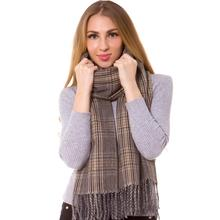 Cashmere Silk Check Plaid Scarf Shawl Wrap Oblong Warm Fashion Long Thick  Hijab Top Quality Tartan 841b9dc7710e