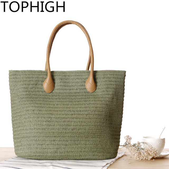 0ab9e22664a7 TOPHIGH Big Women Messenger Summer Straw Bag Hand Beach Tote Bag Luxury Handbags  Women Bags Designer
