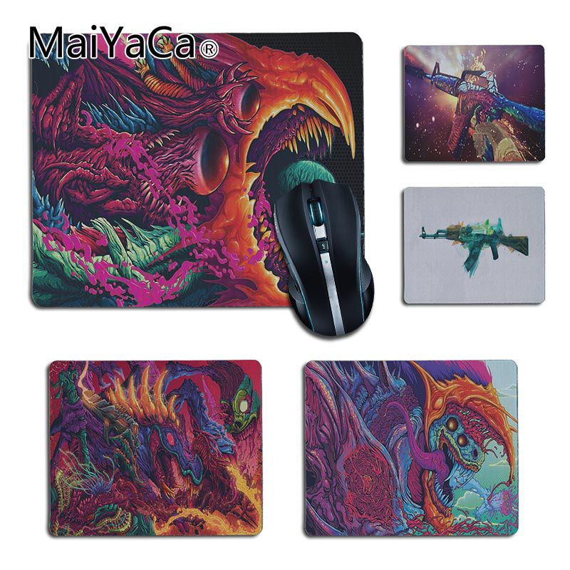 MaiYaCa New Arrivals Hyper Beast Gaming CS GO Gamer Speed Mice Retail Small Rubber Mousepad Size25X29cm 18x22cm Gaming Mousepads