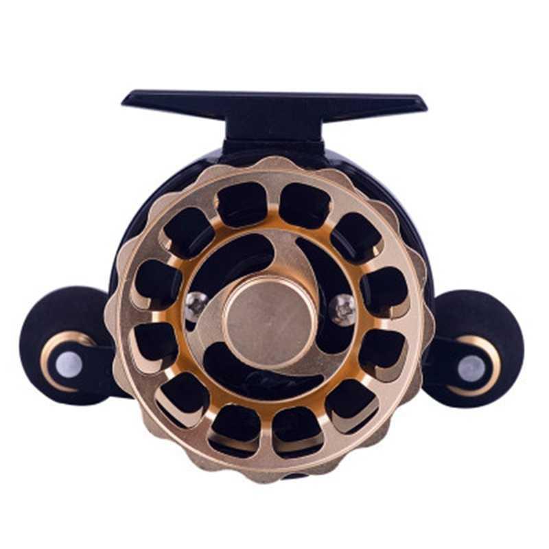 Roue de pêche roue de plomb bobine de métal roue de poisson 60 tasse de fil métallique roue de radeau Micro-rapport de vitesse de roue LED: 3.6: 1 bobine de pêche