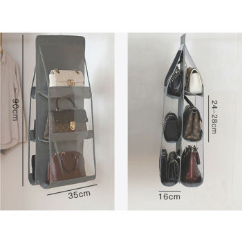 6 Pocket Folding Hanging Large Clear Handbag Purse Storage Holder Anti dust Organizer Rack Hook Hanger.jpg 350x350 - High Quality Women Leather Crossbody Bag Soft Solid Color Shoulder Bags Large Capacity Messenger Hobo Hippie Boho Bag Purses