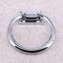 edf37175d1b2 Diámetro 98mm moderno plata brillante anillo gota silla de madera puerta de  madera maneja cromo cocina gabinete tiradores perill.