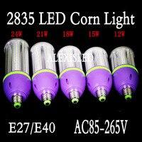 E27 lampy led 2835 220 v 12 w 15 w 118 w 21 w 24 w oświetlenie led lights kukurydzy żarówka led święta żyrandol świeca 1/lot